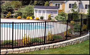 Jerith Ovation Series Pool Compliant Aluminum Fence